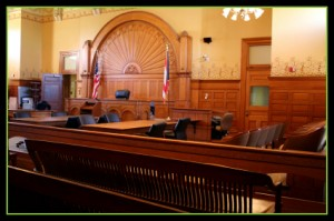 A courtroom representing the services of the Law Offices of Jerod Gunsberg in Los Angeles, CA