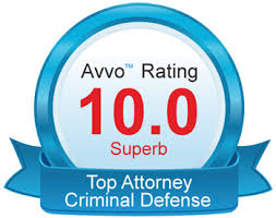 An Avvo™ top 10 best rating badge for the Law Offices of Jerod Gunsberg in Los Angeles, CA